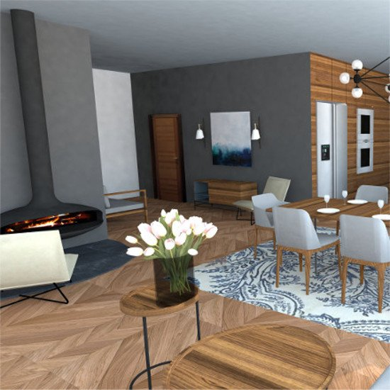 modern style desing apartment in Amersfoort